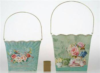 گلدان و سطل پاکتی فلزی