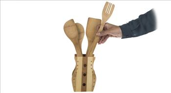 ست کفگیر و ملاقه 6 پارچه مدل بامبو