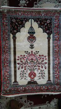 فرش دستباف کاملا ابریشم