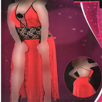 لباس خواب بلند زنانه ترک - 4009 MyBen