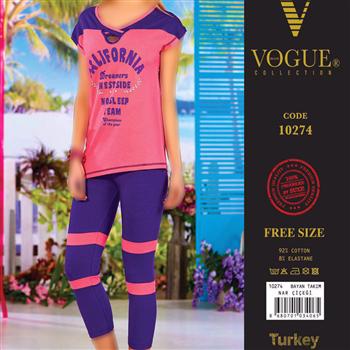 تی شرت شلوار زنانه ترک - 10274 VOGUE