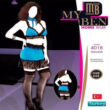لباس خواب زنانه ترک - 4018 MyBen
