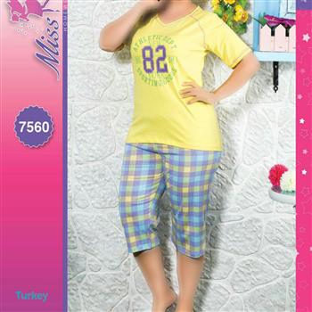 بلوز شلوار سایز بزرگ زنانه ترک - 7560 Miss Tiko