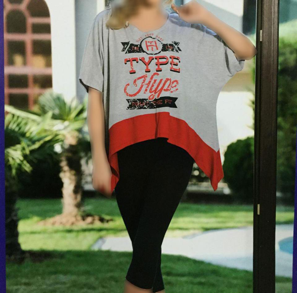 تی شرت شلوارک زنانه ترک - Lolitam 9623 |