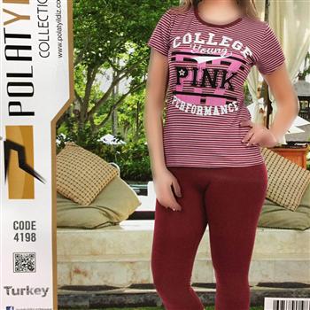 تیشرت شلوارک زنانه ترک - Polat 4198