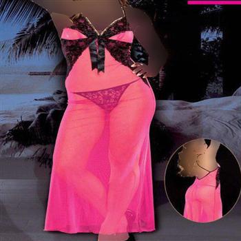 لباس خواب بلند زنانه ترک - 4066 MyBen