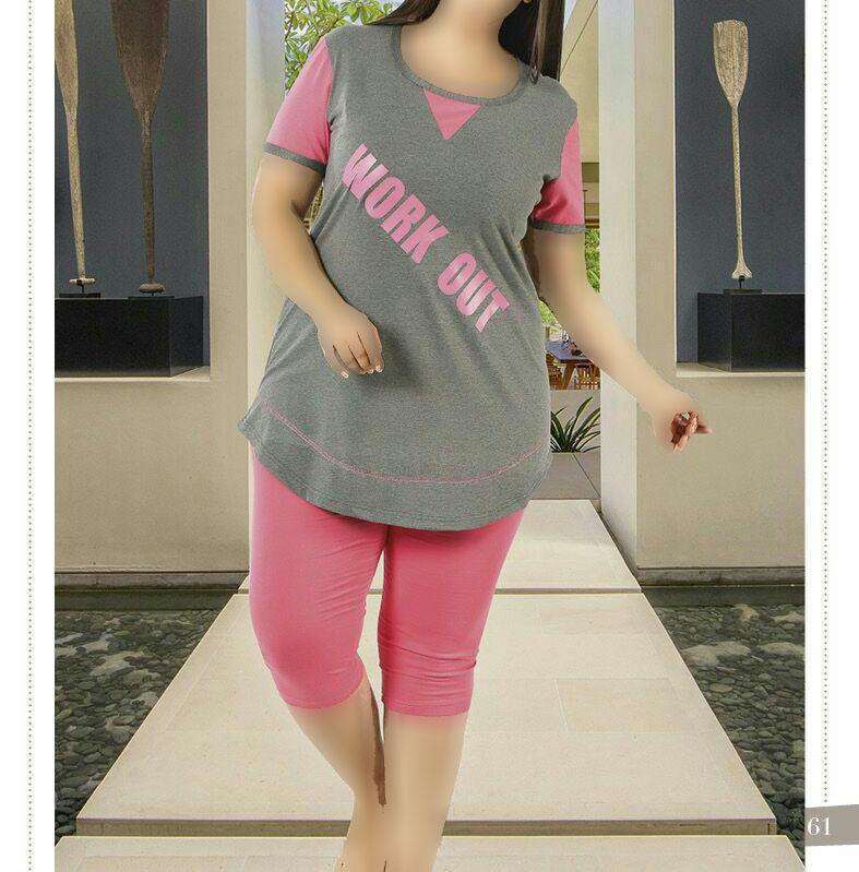 تی شرت شلوارک سایز بزرگ زنانه ترک - 7478 Miss Tiko |