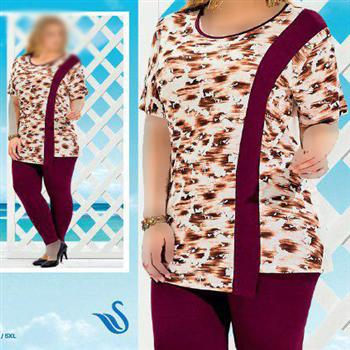 تی شرت شلوار ترک سایز بزرگ - 4460 Suxe