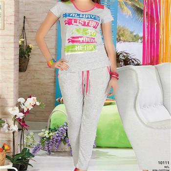 تی شرت شلوار زنانه ترک - 10111 Vogue