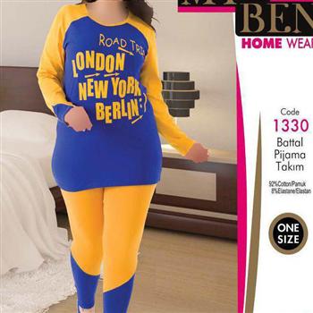 بلوز شلوار سایز بزرگ زنانه ترک -1330 MyBen