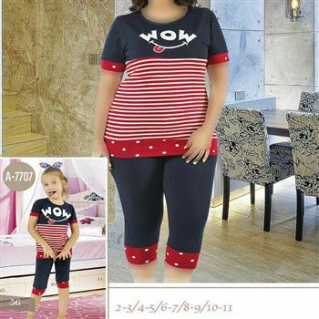 تی شرت شلوارک سایز بزرگ زنانه ترک - 7446 Miss Tiko