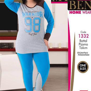 بلوز شلوار سایز بزرگ زنانه ترک -1332 MyBen