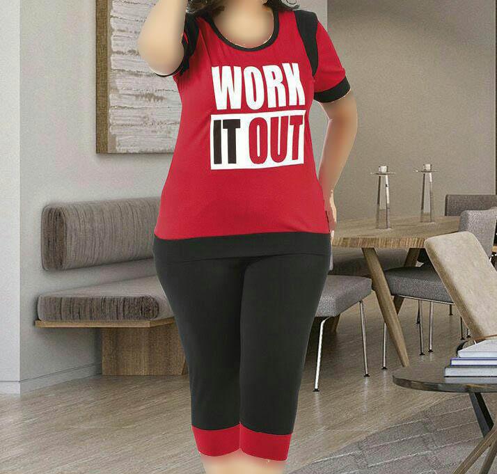 تی شرت شلوارک سایز بزرگ زنانه ترک - 7449 Miss Tiko |