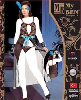 لباس خواب بلند زنانه 797 MyBen
