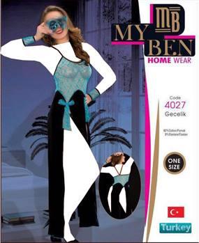 لباس خواب بلند زنانه 4027 MyBen