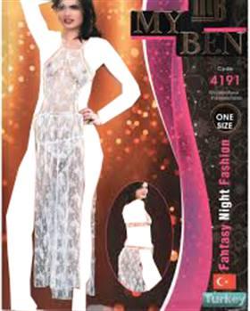 لباس خواب بلند زنانه 4191 MyBen