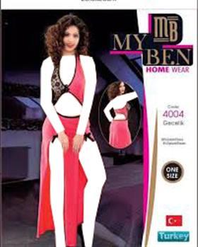 لباس خواب بلند زنانه 4004 MyBen