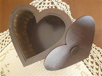 جعبه قلب چوبی ولنتاین