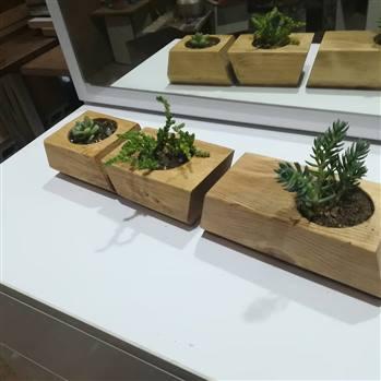 گلدان چوبی ضد اب