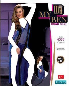 لباس خواب بلند زنانه 4055 MyBen