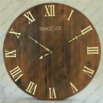 ساعت دیواری کلاسیک چوبی دایره کد 0330