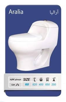 توالت فرنگی یک تکه آرمیتاژ مدل آرالیا 60