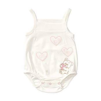 بادی نوزادی دخترانه اونیکس طرح قلب و خرس کد 019