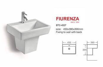 روشویی نیم پایه یک تکه فیورنزا FIURENZA کد 4527