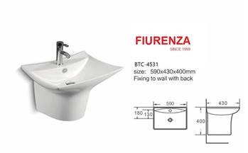 روشویی نیم پایه مدل فیورنزا FIURENZA کد 4531