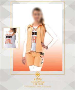 تیشرت شلوارک دخترانه  ترک Ozkan مدل 41076