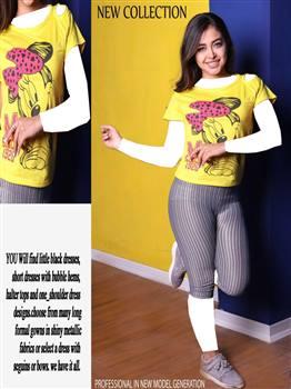 تاپ شلوارک زنانه مدل میکی موس
