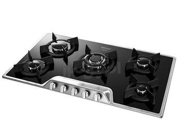 اجاق گاز صفحه ای پنج شعله شیشه ای استیل البرز مدل G 5901/S