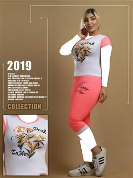 تیشرت شلوارک زنانه مدل شکوفه