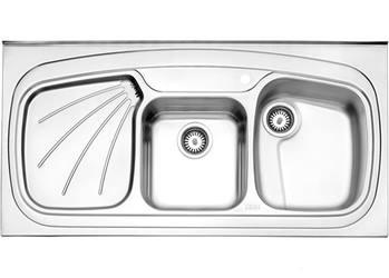 سینک پروانه روکار استیل البرز مدل 614