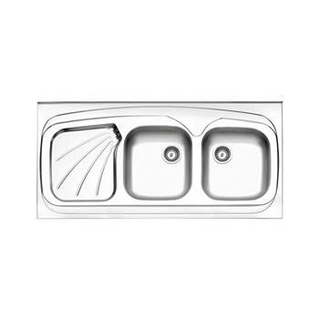 سینک طرح پروانه روکار بدون سیفون  استیل البرز مدل 270/60