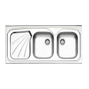 سینک طرح پروانه  روکار بدون سیفون  استیل البرز مدل 270/50