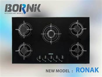 اجاق  گاز شیشه ای برنیک مدل مدل روناک