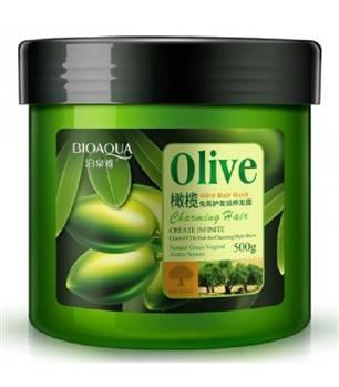 ماسک موی تقویت کننده عمیق ضد ریزش روغن زیتون بیوآکوا حجم 500 گرم BIOAQUA Olive Oil Hair Mask