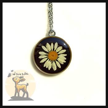 گردنبند گل بابونه رزینی
