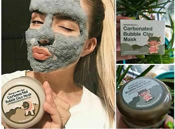 ماسک حبابی کربن مغذی و پاک کننده عمیق پوست بیوآکوا حجم 100 گرم