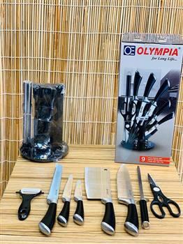 سرویس چاقوی آشپزخانه 9 پارچه المپیا