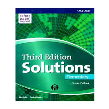 کتاب Solutions Elementry Third Edition اثر Tim Falla And Paul A Davies انتشارات الوندپویان