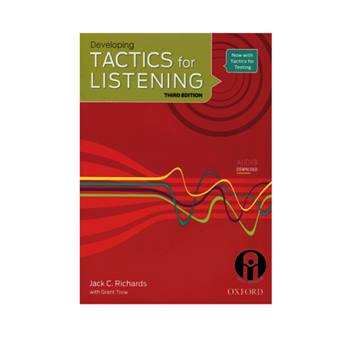 کتاب Developing Tactics For Listening Third Edition اثر Jack C.Richards and Grant Trew انتشارات الوند پویان
