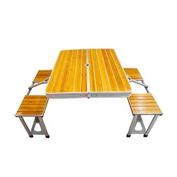 میز و صندلی سفری چوب آلومینیوم