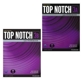 کتاب Top Notch 3 اثر Joan Saslow And Allen Ascher انتشارات الوندپویان دو جلدی