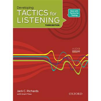 کتاب  Developing Tactics for Listening اثر Jack C. Richard with Grant Trew انتشارات Oxford