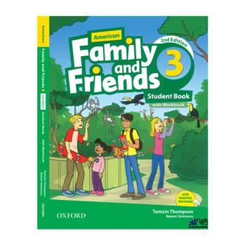 کتاب AMERICAN FAMILY AND FRIENDS 3 اثر TAMZIN THOMPSON AND NAOMI SIMMONS انتشارات رهنما