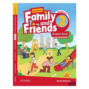 کتاب AMERICAN FAMILY AND FRIENDS 2 اثر NAOMI SIMMONS انتشارات رهنما