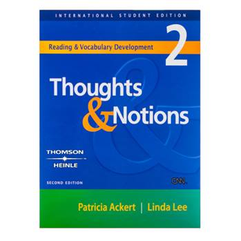 کتاب Thoughts and Notions 2 اثر Patricia Ackert And Linda Lee انتشارات Thomson Heinle