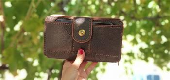 کیف پول دورزیپ چرم طبیعی